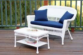 jeco w00206 lcs011 white wicker patio