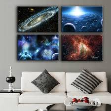2016 Canvas Painting Wall Art 4pcs Space Body Wall Painting Print On Canvas  For Home Decor