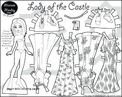 Kawaii Paper Dolls Interactive Christmas Coloring Pages