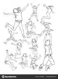 Disegni Di Bambini Che Saltano Da Colorare Bambini Che Saltano