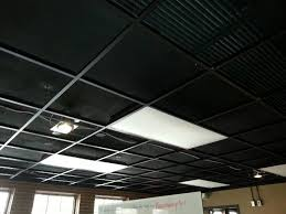 remove ceiling tiles leave lights paint ceiling black sm2 cafe well not