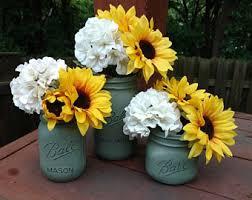 Mason Jar Table Decorations Wedding Mason Jar Centerpiece Table Centerpiece Floral Sunflower Decor 65