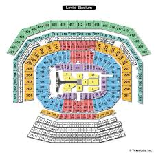 Levis Stadium Seating Chart Movies Bund Levis Stadium Seat Map Concert