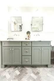 gray bathroom vanity. Grey Shaker Style Bath Vanity With Carrara Marble Counter Top As Featured On Rafterhouse Gray Bathroom Base 36