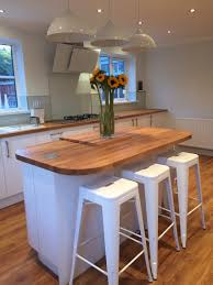 White Gloss Kitchen White Gloss Kitchen With Oak Worktop Home Ideas Pinterest