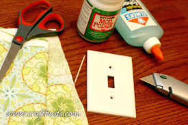 light switch wall protectors covered plates craft buds materials to make  your own lights .