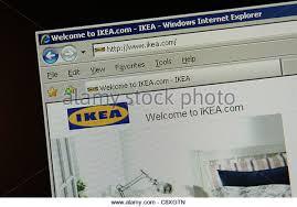 ikea furniture retailer worldwide website - Stock Image