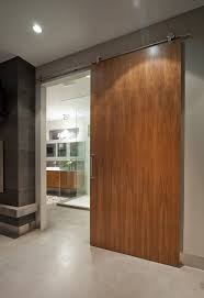 contemporary barn door hardware bathroom contemporary with system one floors sliding door wood door