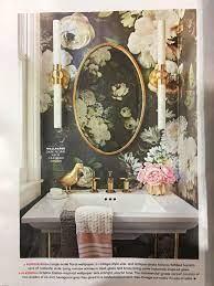 Vintage Floral Wallpaper Bathroom ...
