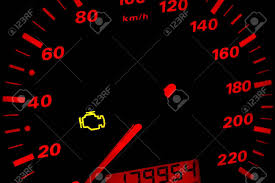 Why Is Engine Light On In Car Check Engine Light Car Dashboard In Closeup