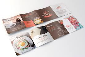 Coffee Shop Brochure Template Coffee Shop FREE Brochure Template For Illustrator Pagephilia 12