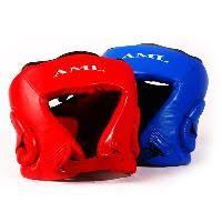 <b>Шлем</b> боксерский с логотипом AML, кожа, цвет <b>синий</b>, <b>р</b>-<b>р</b> M 101 ...