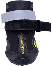 Qumy Dog Boots Size Chart Qumy Dog Boots Waterproof Shoes For Large Dogs With Reflective Velcro Rugged Anti Slip Sole Black 4pcs Size 6 2 9 X 2 5 Inch