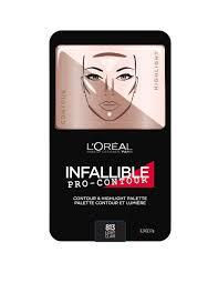 infallible pro contour palette 813 light clair face makeup l oréal paris singapore