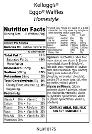 image result for homestyle eggo waffles nutrition facts