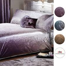 ombre crushed velvet duvet cover with pillowcase bedding set king silver gold