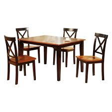 Winston Porter Segundo Rubberwood 5 Piece Solid Wood Dining Set