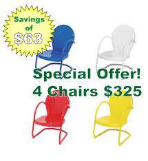 retro metal lawn chairs retro metal
