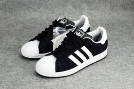 adidas shoes superstar black and white. adidas superstar ii black uppers white shoes and