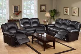 living room living room focus on modern black leather recliner chairs and beautiful coffee table black leather living room