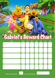 Winnie The Pooh Reward Chart Personalised Winnie The Pooh Reward Chart Adding Photo Option Available