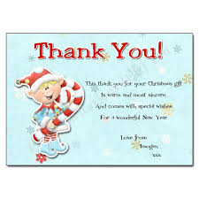 thank you notes christmas little elf kiss