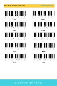 Complete Piano Chord Chart Piano Chart Pdf