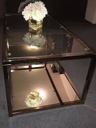 beautiful mirrored champagne colored coffee table for in ripon ca offerup