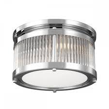 Bathroom Heater Lights Uk Paulson Flush 3 Light Chrome And Glass Rod Bathroom Ceiling Light