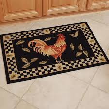sophisticated kitchen cool rooster rugs floor mat using of