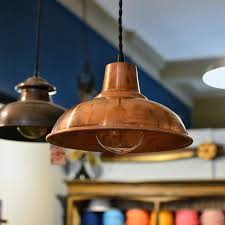 Copper Barn Light Solid Shade Antique Finish Isaeed Me