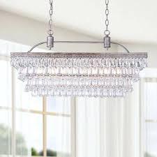 glass drops chandelier antique silver 6 light rectangular glass droplets chandelier ping the best deals on