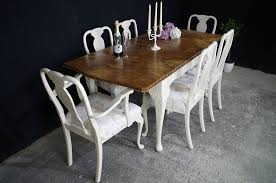 french style walnut extending dining table 6 chairs