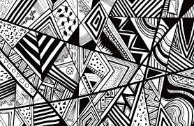 Abstract Art Black And White Patterns Black White Abstract Pattern Vector Line Drawing Graphic Pen