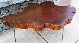 big round coffee table live edge slab table tree round tree cookie walnut color elm