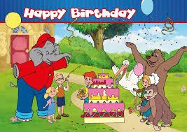 Card Bday Happy Birthday Card Benjamin The Elephant Birthday Cards Quotes