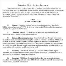 Consulting Agreement In Pdf Beauteous 44 Sample Master Service Agreements Sample Templates