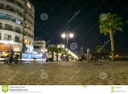 Special Lights Larnaca Larnaca Promenade At Night Editorial Image Image Of