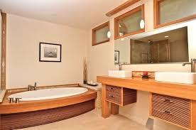 bamboo bathroom vanities. master bathroom in asian style bamboo finishing cabinets hardwood vanity oval bathtub with accent vanities