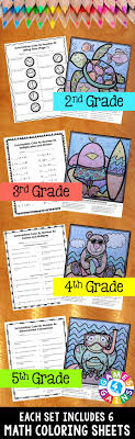 best ideas about math skills math night th these summer math color by number activities are the perfect way to review key