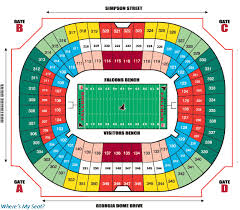 Georgia Dome Atlanta Ga Seating Chart View