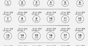 36 Detailed Printable Ring Size Guide