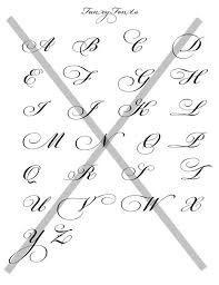 Cool Fonts To Write In Fancy Fonts Alphabet