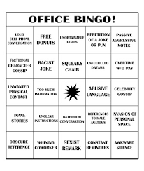 Office Bingo Cold Ramen Office Bingo