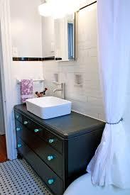 vintage dresser into a bathroom vanity