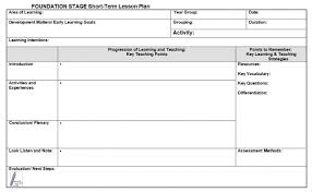 Lesson Plan Sheets Lesson Plan Template For Eyfs Teachwire Teaching Resource