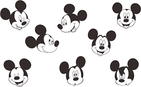 Download Mickey Mouse Logo Vector - Mickey Mouse Face Small PNG Image with  No Background - PNGkey.com