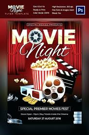 Free Movie Night Flyer Templates Movie Flyers Examples Magdalene Project Org