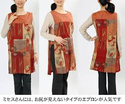 Japanese Apron Pattern New Wanoyofukutoepuronnomise Fuwari Rakuten Global Market Stylish And
