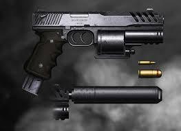Design Pistol Artstation Machine Pistol Revolver Design Snordix